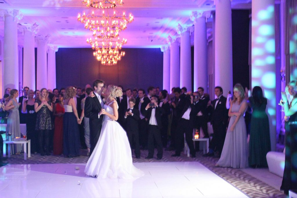 Wedding DJ hire provided at The Waldorf hotel in London.